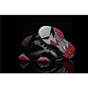 Kids Nike Air Jordan 7 Retro Black Grey Red