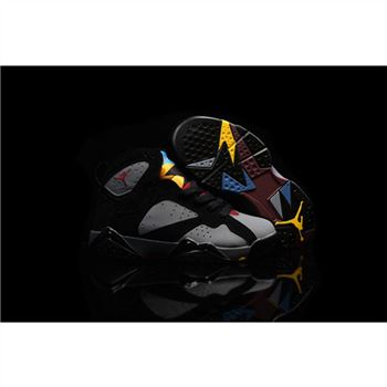 Kids Nike Air Jordan 7 Retro Black Grey