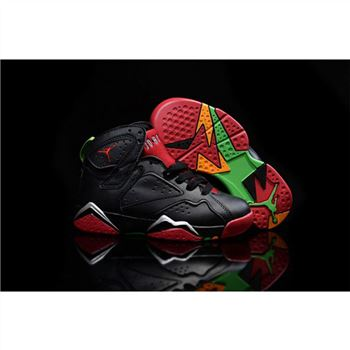 Kids Nike Air Jordan 7 Retro Black Red Green