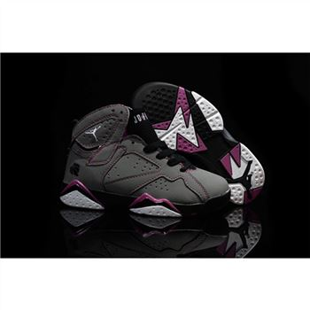 Kids Nike Air Jordan 7 Retro Grey Black Rose