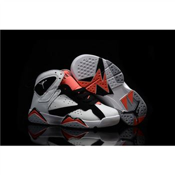 Kids Nike Air Jordan 7 Retro White Black Orange
