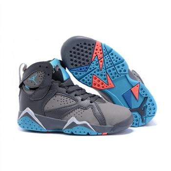 Kids Nike Air Jordan Retro 7 Grey Blue