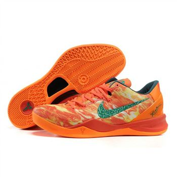 Mens Nike Kobe 8 Elite Series Orange Dark Green