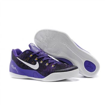 Mens Nike Kobe 9 EM Purple Black White