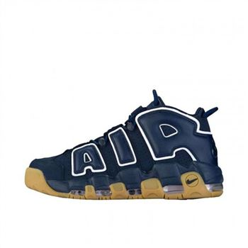 Mens Nike Air More Uptempo Navy White Shoes