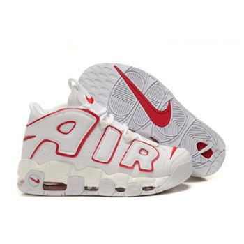 Mens Nike Air More Uptempo White Red Shoes