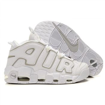 Mens Nike Air More Uptempo White Shoes