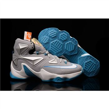 Mens Nike Lebron James 13 Grey Blue White