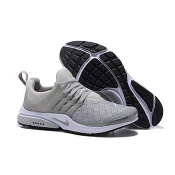 Men Nike Air Presto SE Woven Shoes Gray White