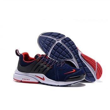 Men Nike Air Presto Shoes Navy Red