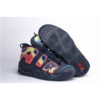 Mens Nike Air More Uptempo Black Colorful Shoes