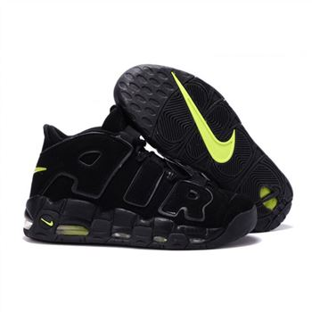 Mens Nike Air More Uptempo Black Fluorescent Shoes
