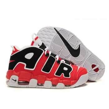 Mens Nike Air More Uptempo Red Black White Shoes