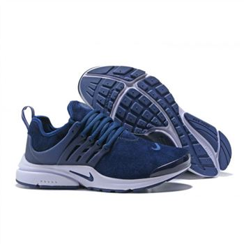 Nike Air Presto Men All Navy White Shoes