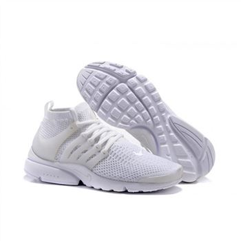 Men Nike Air Presto Flyknit Ultra Shoes All White