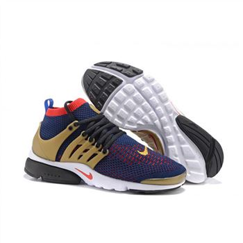 Men Nike Air Presto Flyknit Ultra Shoes Navy Red Black