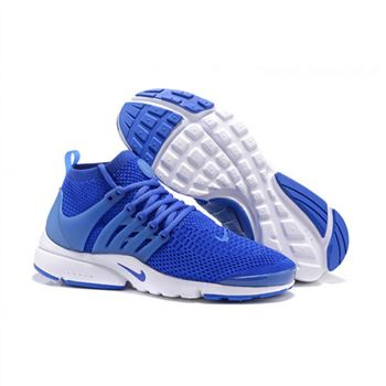 Men Nike Air Presto Flyknit Ultra Shoes Saphire White
