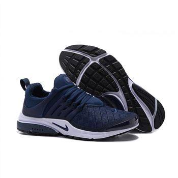 Men Nike Air Presto SE Woven Shoes Midnight Navy White