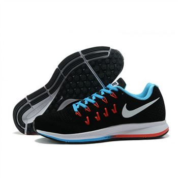 Mens Nike Air Zoom Pegasus 33 Shoes Black Blue Red