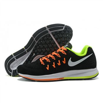 Mens Nike Air Zoom Pegasus 33 Shoes Black Orange Green