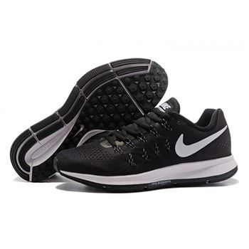 Mens Nike Air Zoom Pegasus 33 Shoes Black White I