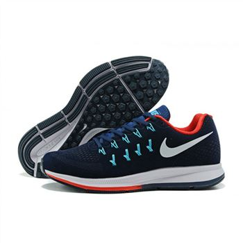Mens Nike Air Zoom Pegasus 33 Shoes Navy Red Blue