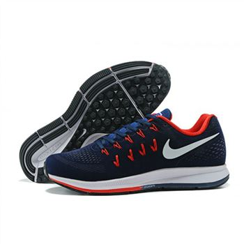 Mens Nike Air Zoom Pegasus 33 Shoes Navy Red White