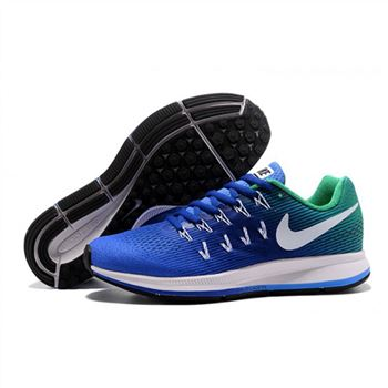 Mens Nike Air Zoom Pegasus 33 Shoes Sapphire Green White