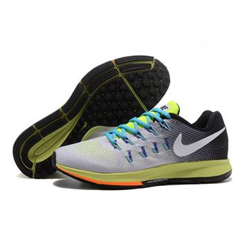 Mens Nike Air Zoom Pegasus 33 Shoes Gray Black Green