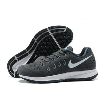 Mens Nike Air Zoom Pegasus 33 Shoes Gray White