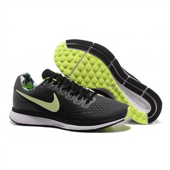 Mens Nike Air Zoom Pegasus 34 Black Green Shoes