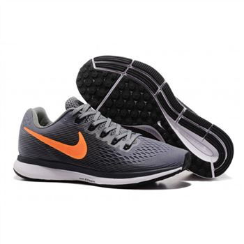 Mens Nike Air Zoom Pegasus 34 Gray Orange Shoes