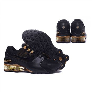 Mens Nike Shox Avenue Shoes Black Gold