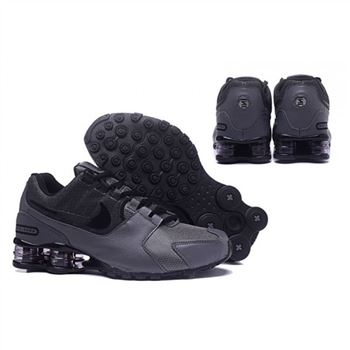 Mens Nike Shox Avenue Shoes Black Gray