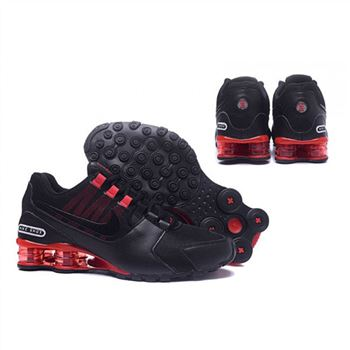 Mens Nike Shox Avenue Shoes Black Red White
