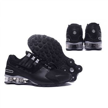 Mens Nike Shox Avenue Shoes Black Silver