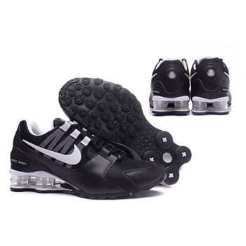 Mens Nike Shox Avenue Shoes Black White