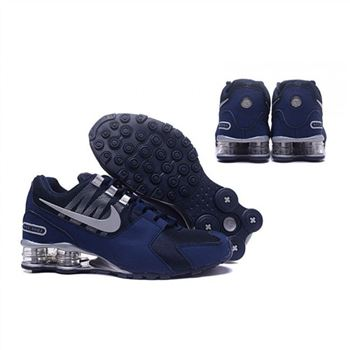 Mens Nike Shox Avenue Shoes Navy Silver