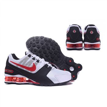 Mens Nike Shox Avenue Shoes White Red Black