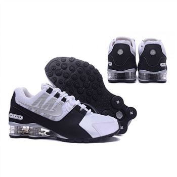 Mens Nike Shox Avenue Shoes White Silver Black