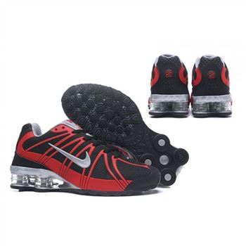 Mens Nike Shox Avernue 801 Black Red Silver Shoes