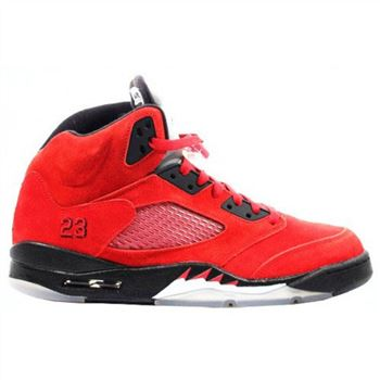 lowest price 48c6c e46e3 sweden ireland 136027 601 air jordan 5 v raging bull red suede varsity red  black 88a95