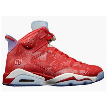 Authentic 717302-600 Air Jordan 6 Retro Varsity Red/Varsity Red-White Men's Shoe