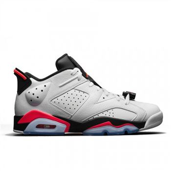 Authentic 304401-123 Air Jordan 6 Retro Low White/Infrared 23-Black