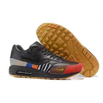 Nike Air Max 87 Black Red Yellow Womens Shoes