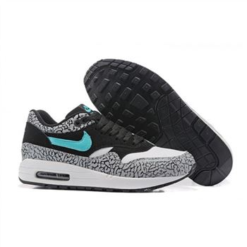 Nike Air Max 87 Black White Blue Womens Shoes