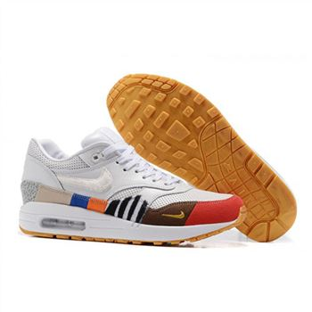 Nike Air Max 87 White Red Yellow Womens Shoes