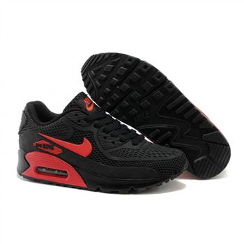Nike Air Max 90 Womens Shoes Black Red