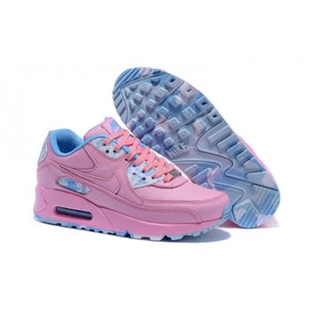 Womens Nike Air Max 90 QS Shoes Pink Blue