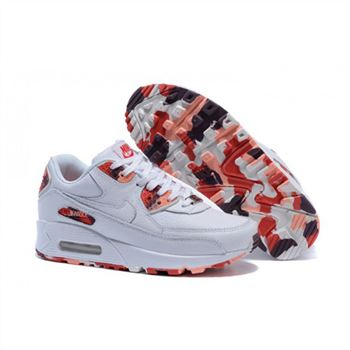 Womens Nike Air Max 90 QS Shoes White Red